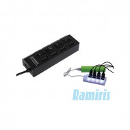 iTotal CM2676 4 portos kapcsolós USB HUB