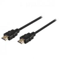 Valueline Nagysebességű HDMI kábel Ethernet átvitellel, HDMI csatlakozó - HDMI csatlakozó, 1,00 m, fekete