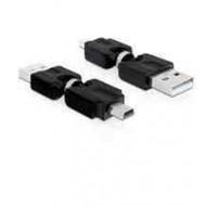 DELOCK CONVERTER USB A apa - USB Mini apa forgatható (65259)