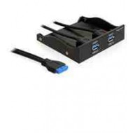 DELOCK USB PANEL USB 3.0 x2 - 3.5-5.25 (61896)