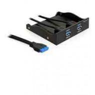 DELOCK USB PANEL USB 3.0 x2 - 3.5-5.25 (61896)