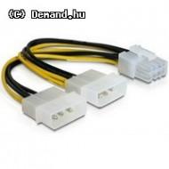 """Delock 82397 PCI Express (hálózati, 8 tűs) -  2 db 51"""" kábel grafikus kártyákhoz"""