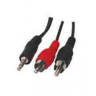 JACK - RCA Audio kábel 1.5m, 3.5mm jack apa - 2xRCA