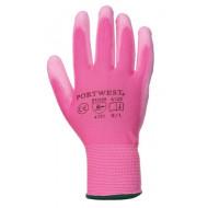 BRAND Szerelőkesztyű, tenyéren mártott, 7-es méret, rózsaszín