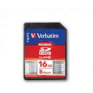 VERBATIM Memóriakártya, SDHC, 16GB, Class 10, VERBATIM