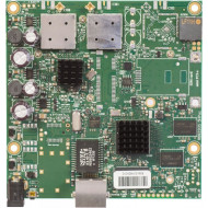 MIKROTIK RouterBOARD 911G with 720Mhz Atheros CPU, 128MB RAM, 1xGigabit LAN, built-in 5Ghz 802.11a/c 2x2 two chain wireless, 2xMM RB911G-5HPacD