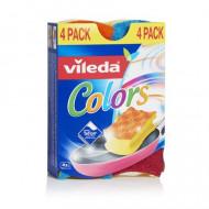 """VILEDA Mosogatószivacs, 3+1 db,  VILEDA """"Pure Active Colors"""""""