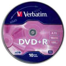 DVD+R Verbatim 4,7Gb 16x 10db/henger