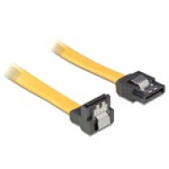"""Delock 82482 SATA  """"le / egyenes"""" 70cm kábel sárga"""