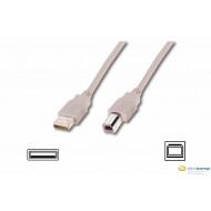 Assmann USB A-B összekötő kábel 1,8m /AK-300102-018-E/