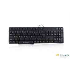 Logic Billentyűzet - LK-12C (USB, fekete, magyar kiosztással)