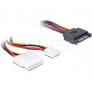 Fordító Táp SATA 15pin - molex+floppy Delock 65227