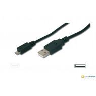 Assmann USB A -- mini USB összekötő kábel 1.8m /AK-300130-018-S/