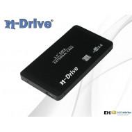 """N Drive EH-25NDB2 2.5"""" külső SATA merevlemez ház fekete USB 2.0"""