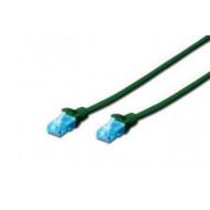 Digitus Premium CAT 5e UTP patch kábel, hossza: 1, zöld DK-1512-010/G