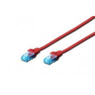 Digitus Premium CAT 5e UTP patch kábel, hossza: 1m, piros DK-1512-010/R