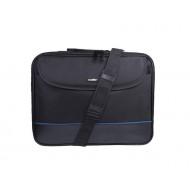 Natec Laptop táska IMPALA, fekete-kék 15,6'' (stiff shock absorbing frame) NTO-0335
