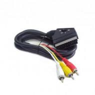 Gembird cable EURO/ 3x RCA, BIDIRECTIONAL, 1.8M CCV-519-001