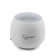 Portable speaker Gembird SPK-103-W, Audio 3.5mm, 2W, 40mm, 400mAh, 6h SPK-103-W