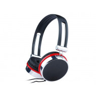 Gembird stereo headphones with microphone and volume control, black/silver/red MHS-903