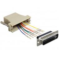 Delock adapter Sub-D 25 Pin apa > RJ45 anya, szerelő készlet 65433
