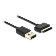 Delock szinkron- és töltőkábel, USB 2.0 apa > ASUS Eee Pad 40 pin apa, 1 m 83451