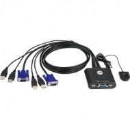 ATEN CS22U 2-Port USB KVM Switch, Remote port selector, 0.9m cables CS22U-AT