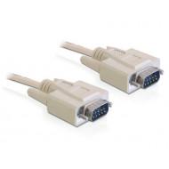 Delock kábel RS-232 soros Sub-D9 M/M, 1 m 82980