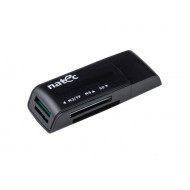 Natec Card Reader MINI ANT 3 SDHC, MMC, M2, Micro SD, USB 2.0 Black NCZ-0560