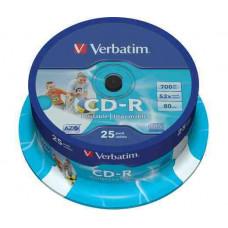 VERBATIM CD-R 700MB nyomtatható 25db/henger