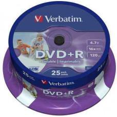 VERBATIM DVD+R 4.7GB 25db/henger