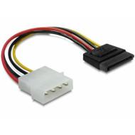 Delock SATA HDD ? 4 tűs Molex (egyenes) hálózati kábel 60112