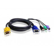 ATEN konzol kábel PS/2-USB KVM 3m