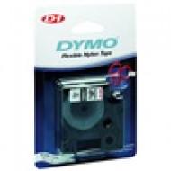 DYMO címke LM D1 nylon 12 mm Black/White