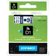 DYMO címke LM D1 alap 12 mm kék/White