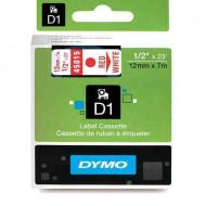 DYMO címke LM D1 alap 12 mm piros/White