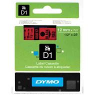 DYMO címke LM D1 alap 12 mm Black/piros