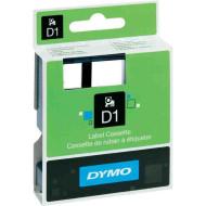 DYMO címke LM D1 alap 9 mm Black/víztiszta