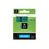 DYMO címke LM D1 alap 9 mm Black/zöld