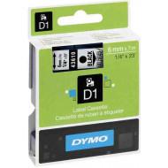 DYMO címke LM D1 alap 6 mm Black/víztiszta