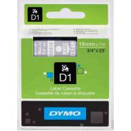 DYMO címke LM D1 alap 19 mm White/víztiszta