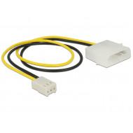 Delock Power Cable 2 pin male  3 pin female (fan) 30 cm 83659