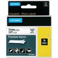 DYMO címke Rhino nylon 12 mm White