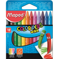 """MAPED Zsírkréta, MAPED """"Color`Peps"""" Wax, 12 különböző szín"""