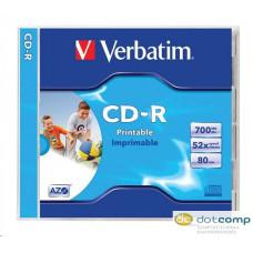Verbatim 80'/700MB 52x nyomtatható CD lemez darabos