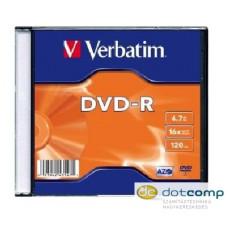 Verbatim DVD-R 4.7GB 16x DVD lemez slim tok