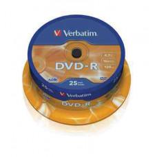 VERBATIM DVD-R 4.7Gb 25db/henger