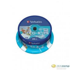 Verbatim 80'/700MB 52x nyomtatható CD lemez 25db/csomag