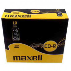 MAXELL CD lemez CD-R80 10db/Csomag 52x Slim tok