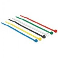 Delock színes kábelkötözők, 100mm x 2,5 mm, 100 darab 18627
